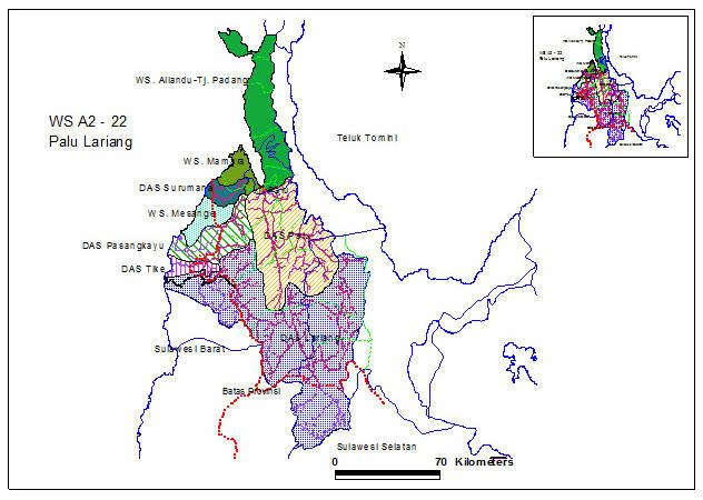 Peta Wilayah Sungai Lariang